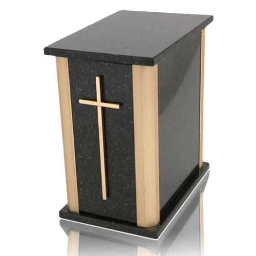 Solitude Cambrian Black Granite Urn