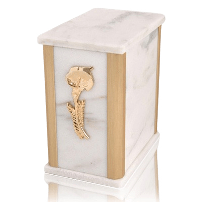 Solitude White Danby Marble Urns