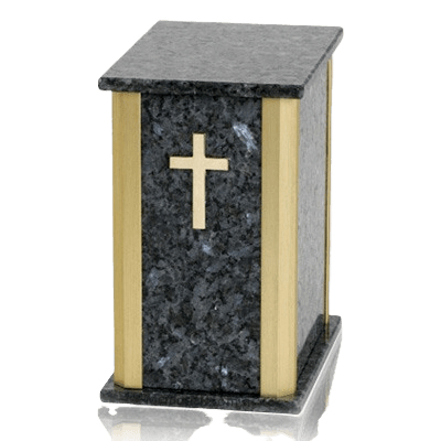 Solitude Blue Pearl Granite Urn