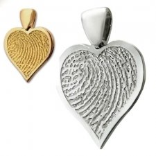 Heart Finger Print Keepsake