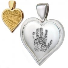 Heart Hand Print Keepsake