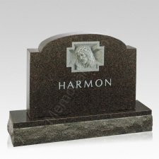 Sacred Crown Companion Granite Headstone