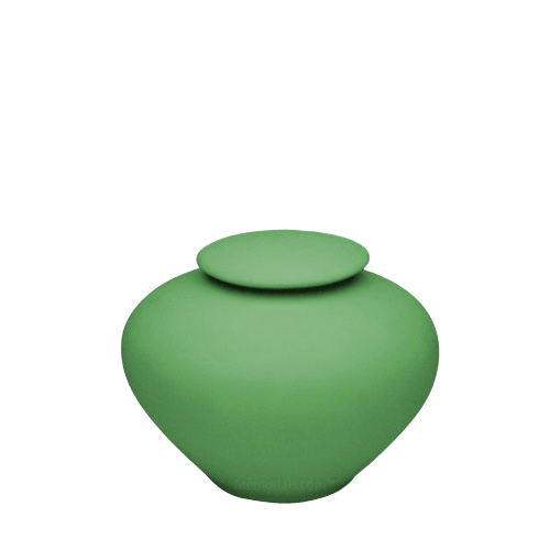 Sage Green Small Porcelain Clay Urn