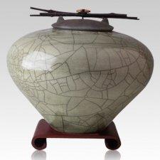 Raku Sage Cremation Urns