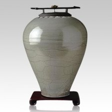 Raku Tall Sage Cremation Urns