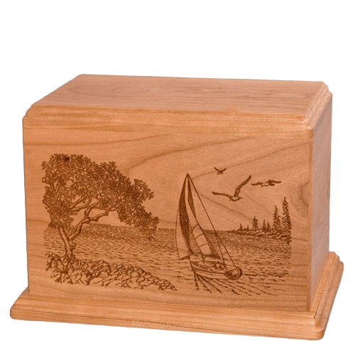 Sail Away Companion Cherry Wood Urn