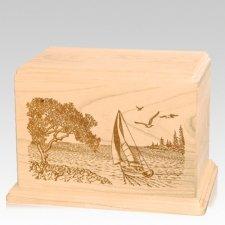 Sail Away Companion Maple Wood Urn