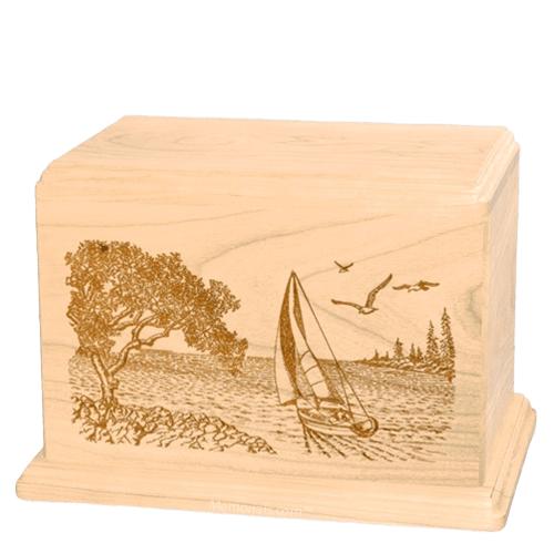 Sail Away Companion Maple Wood Urn