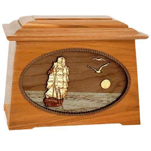 Sailing Home Mahogany Aristocrat Wood Cremation Urn