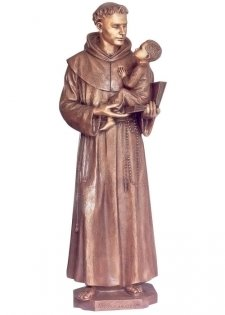 Saint Anthony with Child Bronze Statues