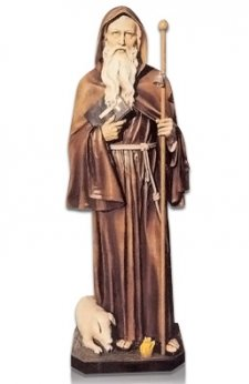 Saint Antonio Abate Con Maiale Fiberglass Statues