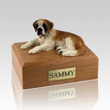 Saint Bernard Laying X Large Dog Urn