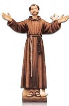 Saint Francis of Assisi with Dove Fiberglass Statues
