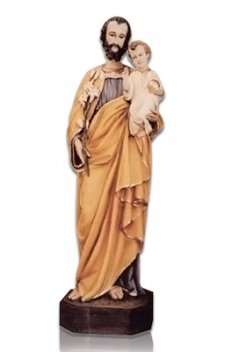 Saint Joseph with Child Large Fiberglass Statues
