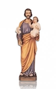 Saint Joseph with Child Medium Fiberglass Statues