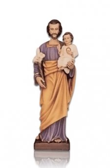 Saint Joseph with Child Small Fiberglass Statues