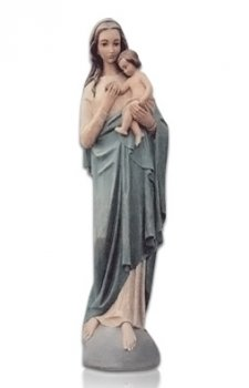 Saint Lady with Child Large Fiberglass Statues