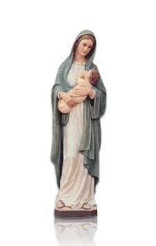 Saint Lady with Child Small Fiberglass Statues