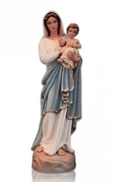 Saint Lourdes with Child Medium Fiberglass Statues