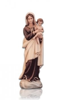 Saint Lourdes with Child Small Fiberglass Statues