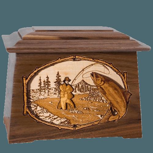 Salmon Stream Walnut Aristocrat Cremation Urn
