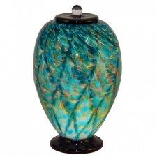 Salt Water Glass Cremation Urn