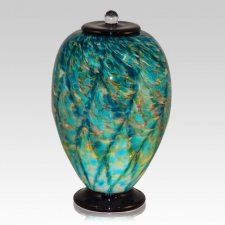 Salt Water Glass Cremation Urn