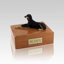 Saluki Laying Small Dog Urn