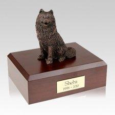 Samoyed Bronze Large Dog Urn