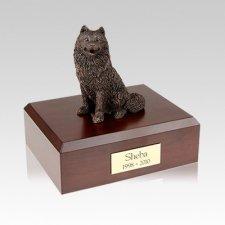 Samoyed Bronze Medium Dog Urn