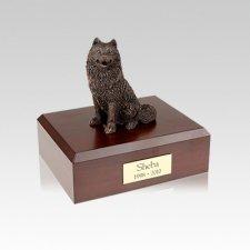 Samoyed Bronze Small Dog Urn
