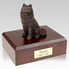 Samoyed Bronze X Large Dog Urn