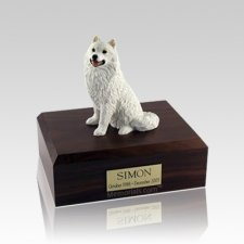 Samoyed Medium Dog Urn