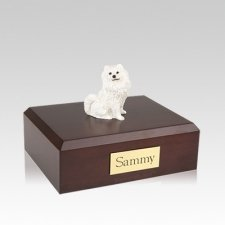 Samoyed Resting Medium Dog Urn