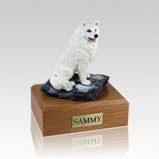 Samoyed Sitting Large Dog Urn