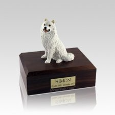 Samoyed Small Dog Urn