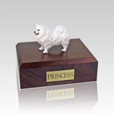 Samoyed Standing Medium Dog Urn