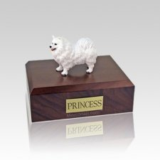 Samoyed Standing Small Dog Urn