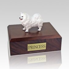 Samoyed Standing X Large Dog Urn