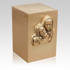 Sancta Mater Bronze Cremation Urn