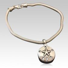 Sand Dollar Cremation Bracelet