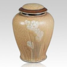 Taupe Ceramic Cremation Urn