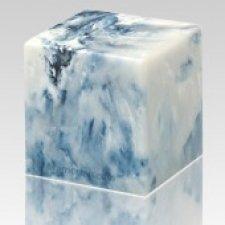 Sapphire Cube Keepsake Cremation Urn
