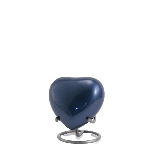 Sapphire Solaris Heart Keepsake Urn