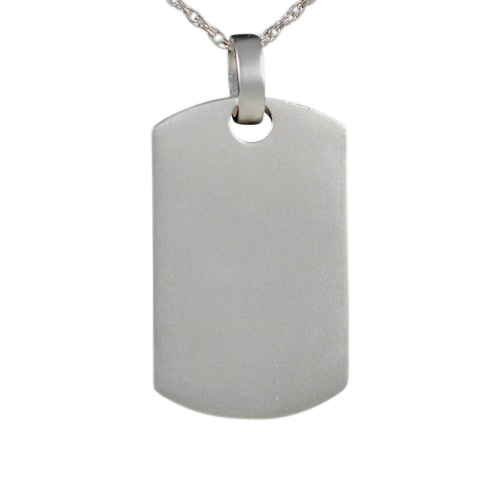 Dog Tag Keepsake Pendant