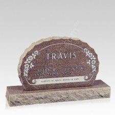 Scallop Companion Granite Headstone