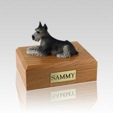 Schnauzer Black & Silver Medium Dog Urn