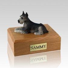 Schnauzer Black & Silver X Large Dog Urn