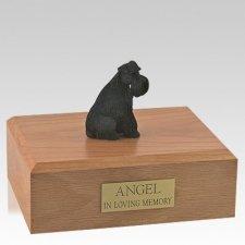 Schnauzer Black Ears Down Sitting X Large Dog Urn