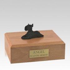 Schnauzer Black Lounging Large Dog Urn